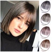 Wig air bangs Wig Non-Remy Hair Short Hairpieces for women Hair Extension Clip In Front Hair Bangs Wigs Hair 100% Human Hair