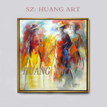 100% of the sisters hand-painted oil painting modern figure painting canvas wall adornment wall of the sitting room wall art pho