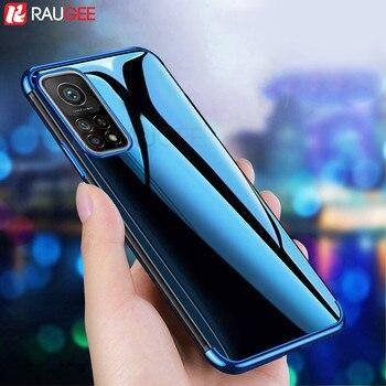 Cassa del telefono per Xiaomi Mi 10 T Pro 5G Custodia Antiurto di Lusso CASO Molle di TPU Trasparente Della Copertura di Caso per Xiaomi mi 10 t Pro Caso Lite