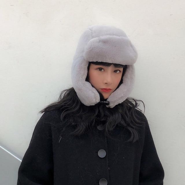 Фото новая хлопковая осенне зимняя шапка ushanka женские милые и