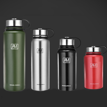 800ml/1500ml stainless steel vacuum flask large capacity outdoor sports water