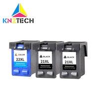 KNZTECH картридж совместимый для hp21 22 21xl 22xl Deskjet F2180 F4180 F2200 F2280 F300 F380 380 D2300 принтер