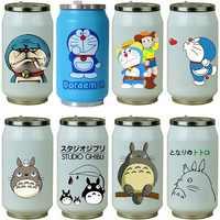 OUSSIRRO Творческий Doraemon нержавеющая сталь Тоторо ТЕРМОС Портативный унисекс студентов личности мода соломы чашки