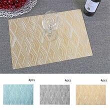 4 шт ПВХ салфетки теплоизоляция обеденный стол коврики для дома