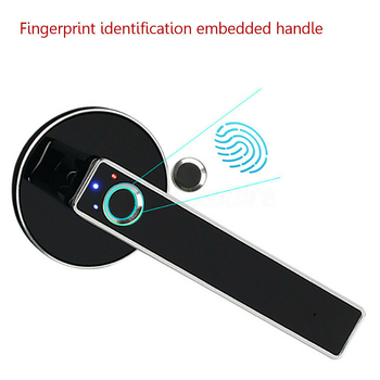 Smart Door Lock Security Keyless USB Rechargeable Door Lock  Fingerprint  Electronic Lock For Home And Office Security Biometric