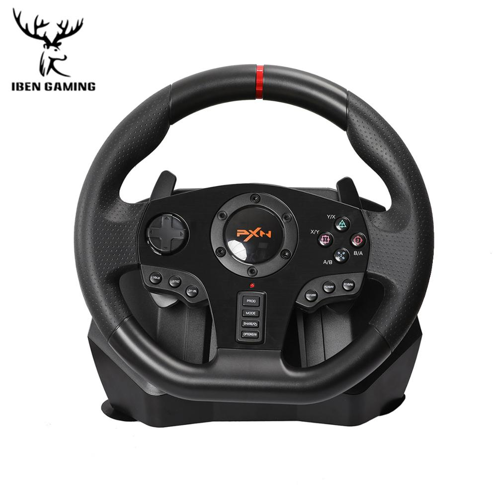 PXN V900 Gamepad Controller Gaming Steering Wheel PC Mobile Racing Video Game Vibration For PC/PS3/4/Xbox-One/Xbox 360/N-Switch image
