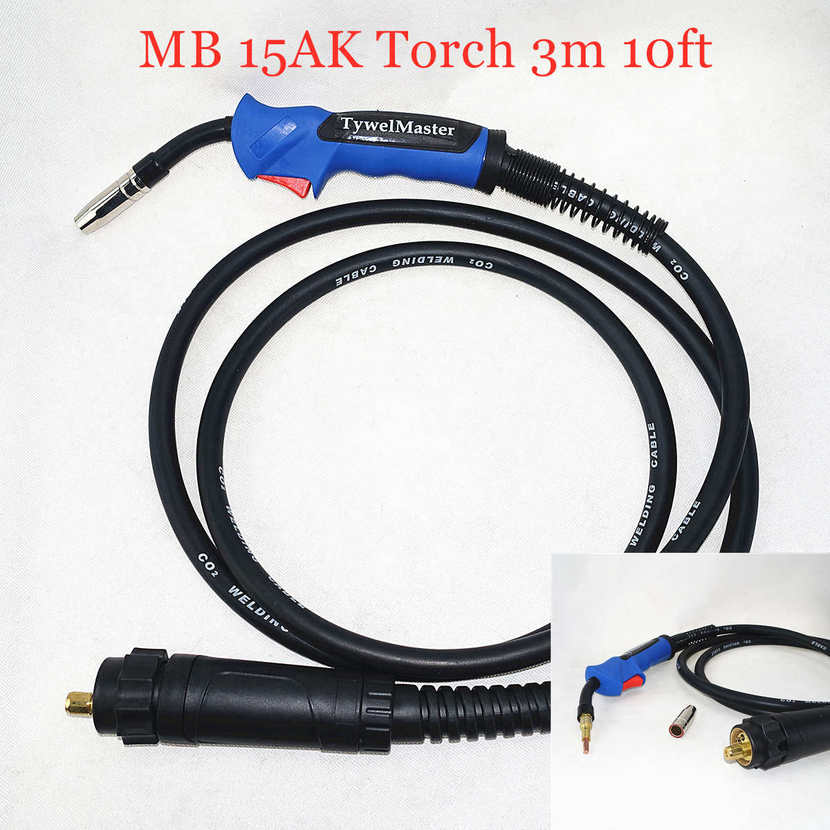 180A 15AK MIG Torch MAG Welding Gun 3M Air-cooled Euro Connector For MIG MAG Welding Machine