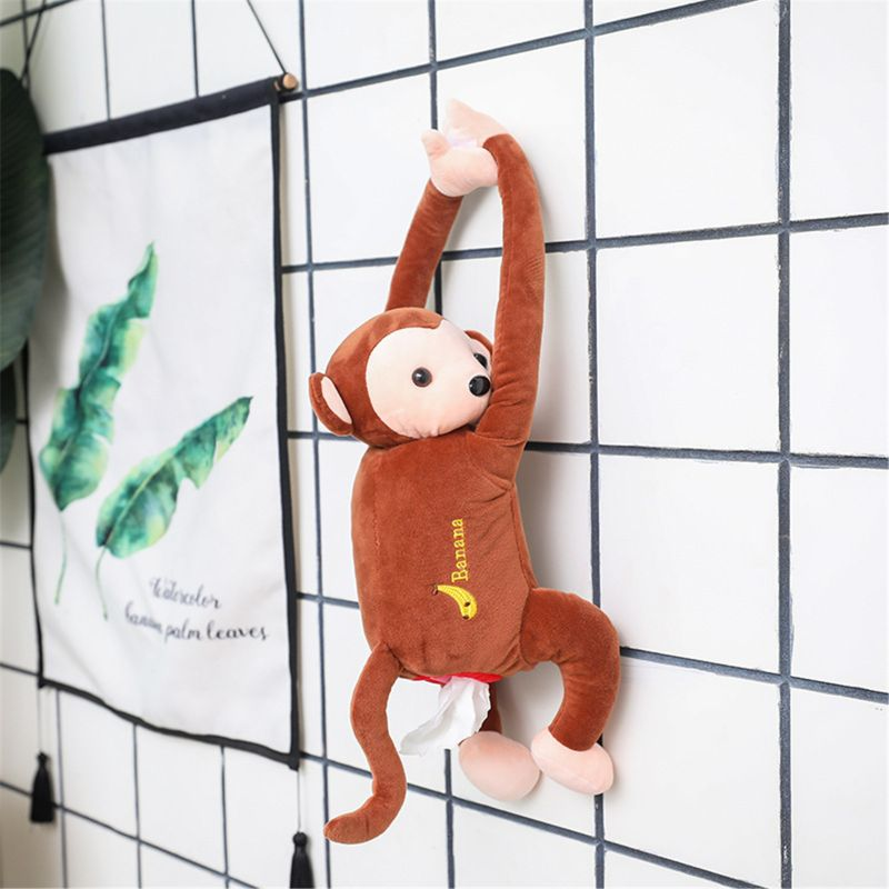 Cute Plush Animal Cartoon Tissue Box Dog Napkin Box Paper Holder Cover Home//Car