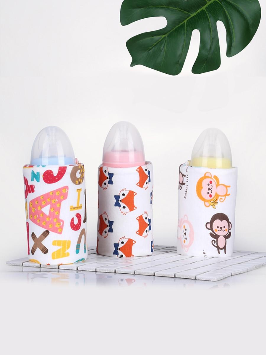 USB Baby Bottle Warmer Heater Insulated Bag Portable Washable Travel Milk Infant Feeding Bottle Bags