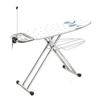 Ironing Board Sylvia, met., stand, shelf D/linen, extension cord