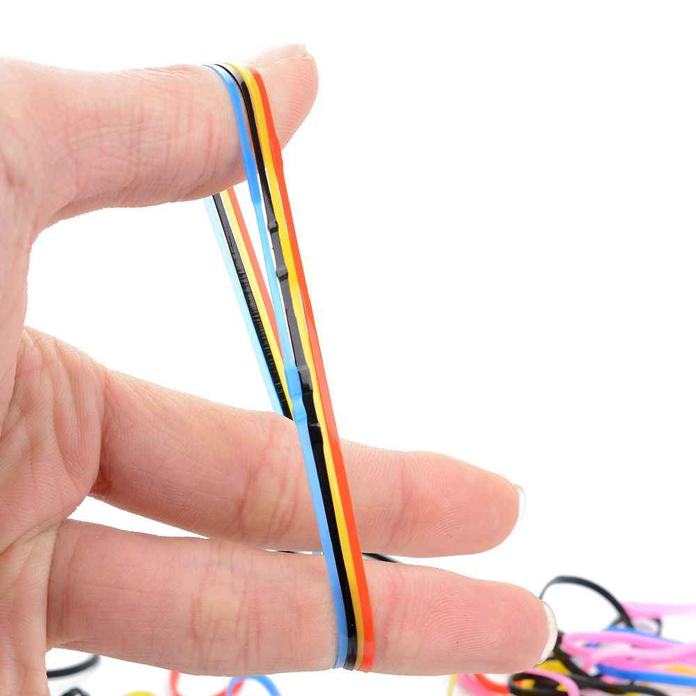 Nieuwe Willekeurige kleur 50 stks/partij Cosmetische hoofdband Voor Vrouwen Meisjes Elastische Haarbanden kleurrijke Rubber Haarband Touw haar accessoires