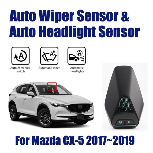 Sensores de limpiaparabrisas para coche Mazda CX 5 CX5 2017 ~ 2019, sistema de Asistente de conducción automática inteligente, Sensor de I + D para faros delanteros