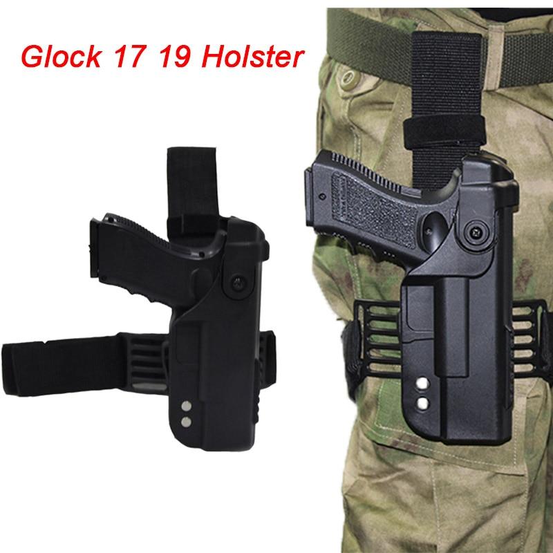 Tactical Airsoft Gun Holster For Glock 17 19 22 23 31 32 Pistol Leg Holster Drop Thigh Gun Case Bag Combat Hunting Accessories