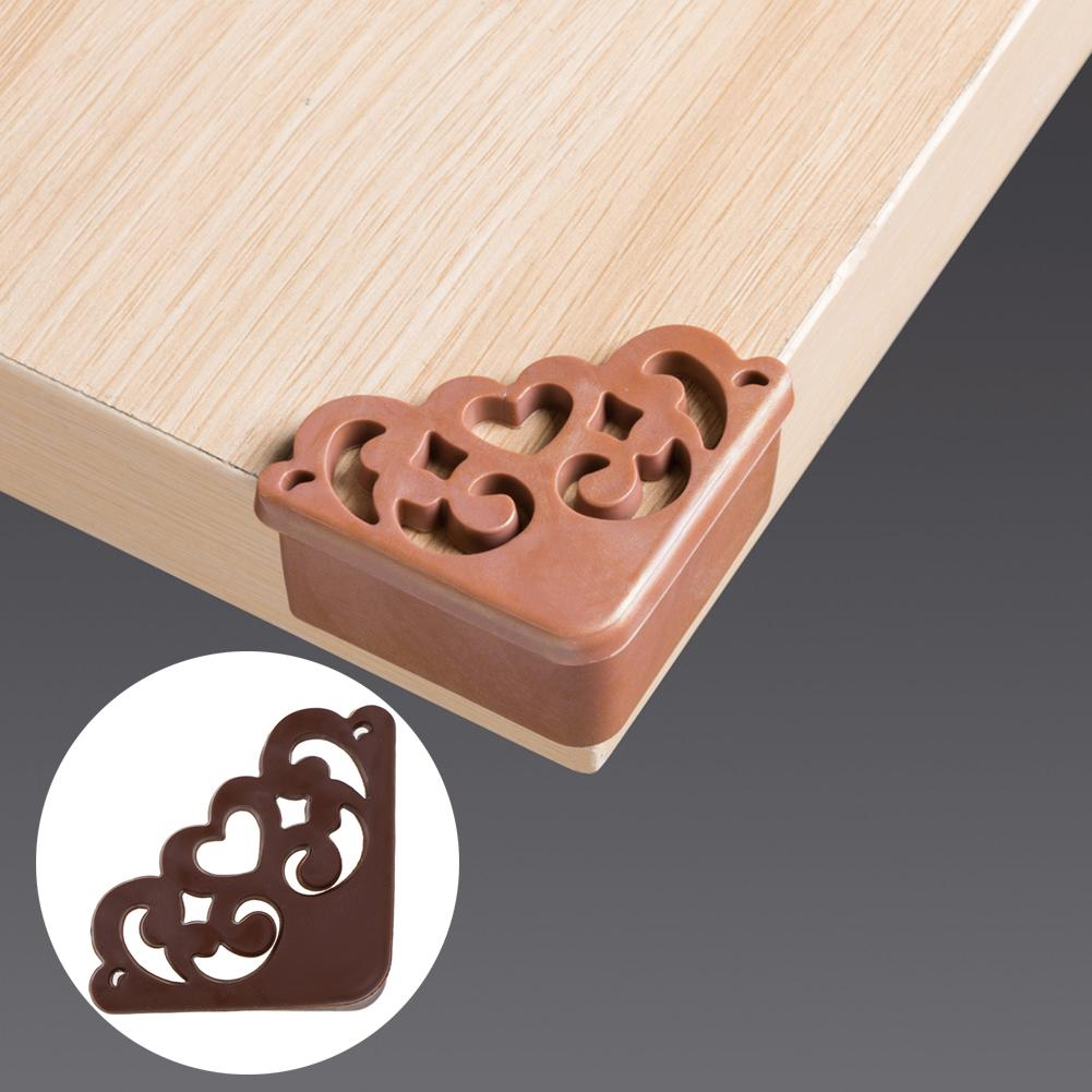 4Pcs Vintage Hollow Heart Soft Table Desk Corner Edge Protector Cover Kid Safety