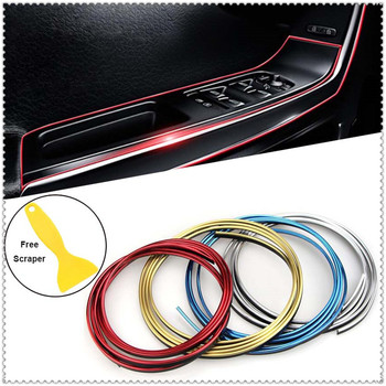 Car Decoration Strip Dashboard Door Edge Trim Interior Gap line for BMW 335is Scooter Gran 760Li 320d 135i E60 E36 F30 F30 image