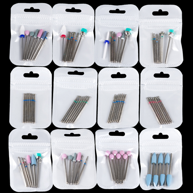 Milling Cutter for Manicure Diamond Nail Art Drill Bits Ceramic Mill Cutters for Removing Nail Gel Polish Manicure Machine Tools