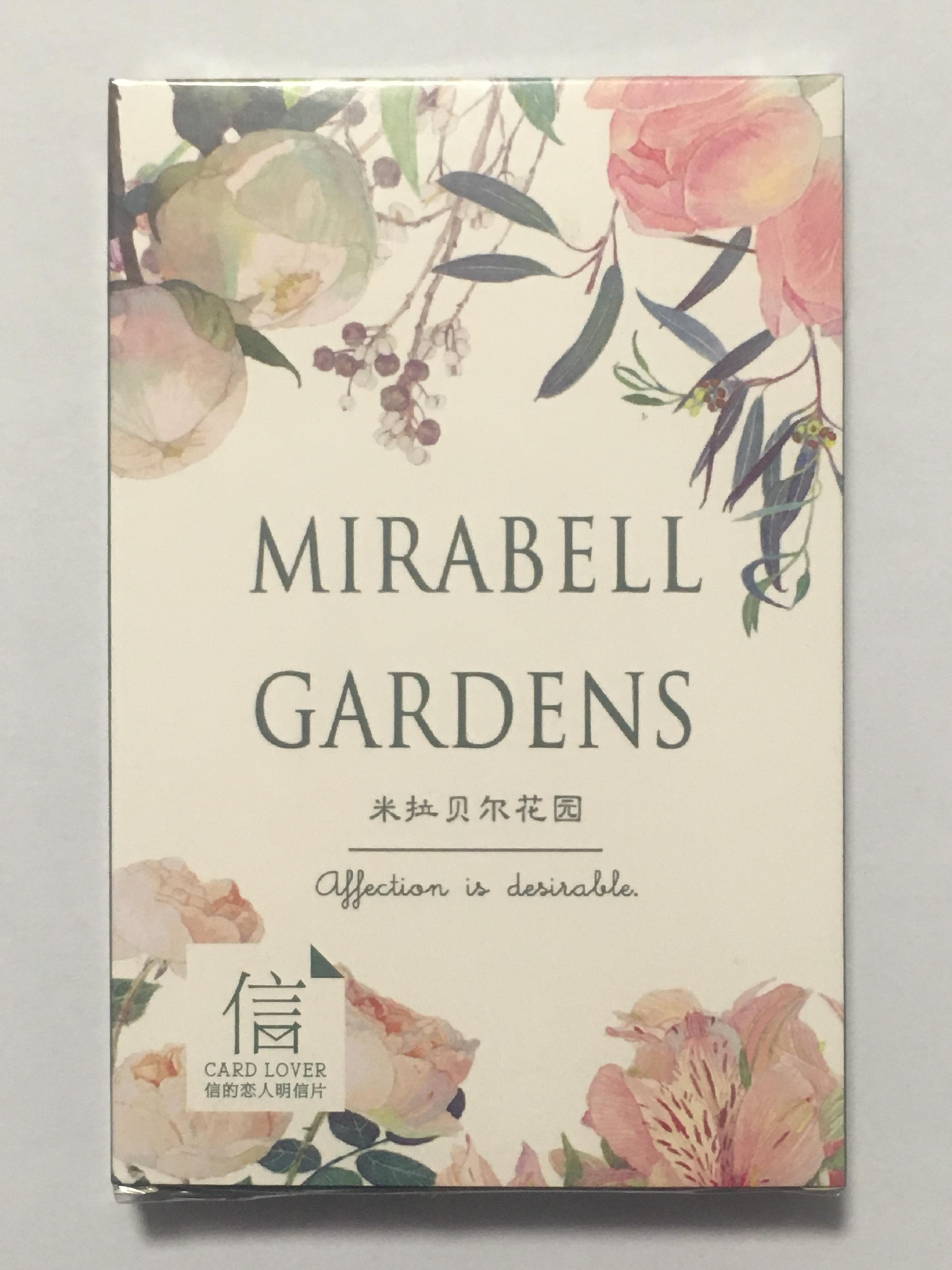 A73- Happy Garden Paper Postcard(1pack=30pieces)