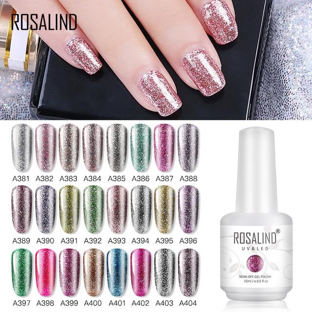 ROSALIND Shiny Platinum Gel Polish Nails Art Design All For Manicure Vernis Semi Permanent UV Gel Hybrid Varnish Nail Gel Polish