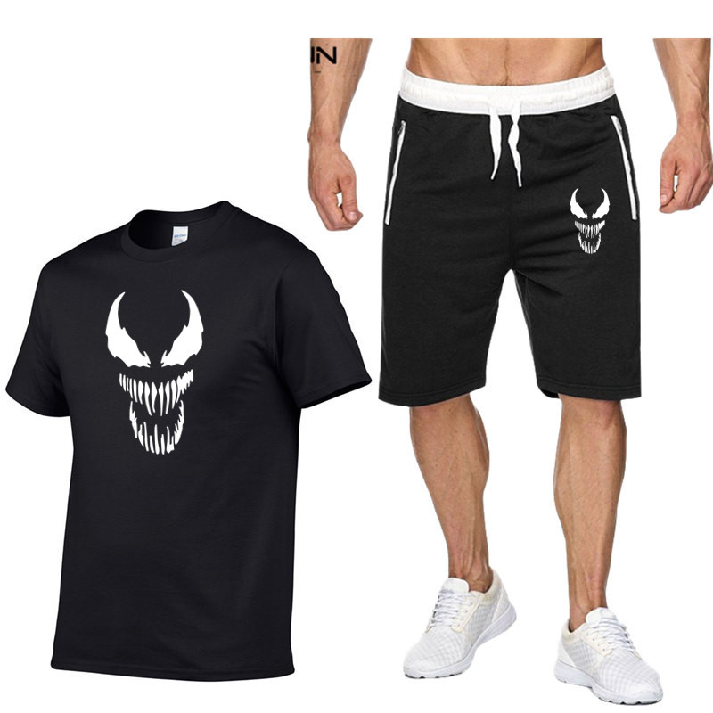 Venom 2 Pcs/Set Men's Tracksuit Sports Suit Gym Fitness Compression Clothes Running Jogging Sport Wear Exercise Workout Set