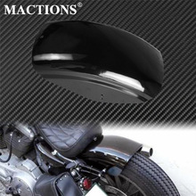 Motorcycle Gloss Black Short Flat Rear Fender Mudguard Bobber Cafe Racer Mudguard Cover For Harley Sportster XL883 XL1200 Custom