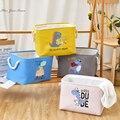 Новый милый складной ящик для хранения с вышивкой динозавра, ящик для хранения игрушек с животными, кубическая корзинка, органайзер для дет...