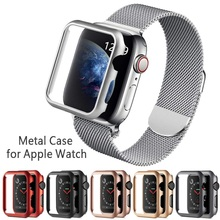 Hard Metal Case Protector Shell for Apple Watch 1 2 3 4 5 42MM 38MM 40MM 44MM Frame Cover aluminium Bumper Iwatch