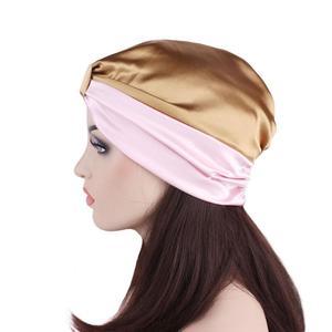 Image 4 - נשים סאטן כובע מצנפת שיער טיפול בארה ליידי טורבן כובע מוסלמי שיער אובדן כובע שינה לילה כובע רך סרטן כימותרפיה כובע Arb בימס