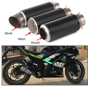 51mm/60mm Motorcycle pipe exhaust with DB killer Motorcycle Exhaust Pipe Muffler Carbon Fiber GP-project Exhaust Pipe