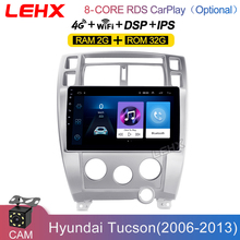 """LEHX 10,1 """"Pantalla 2 din Android 9,0 estéreo Autoraido dvd de Audio auto Radio multimedia reproductor de vídeo para Hyundai Tucson 2006 2013"""