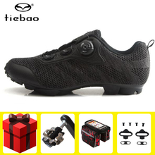 TIEBAO Cycling Shoes add pedal set Non-slip Mountain Bike chaussure vtt sapatilha ciclismo mtb Breathable Athletic Bicycle Shoes santic men mtb cycling shoes pu breathable moutain bike shoes auto lock athletic bicycle shoes chaussure vtt zapatillas ciclismo