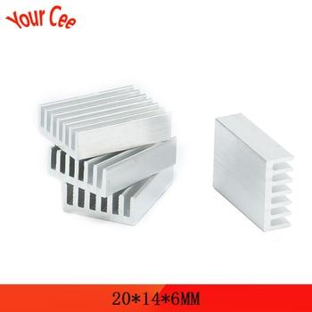 10 pcs 20*14*6mm Aluminum Heatsink Heat Sink Radiator Cooling cooler For Electronic Chip IC LED computer 20x14x6mm