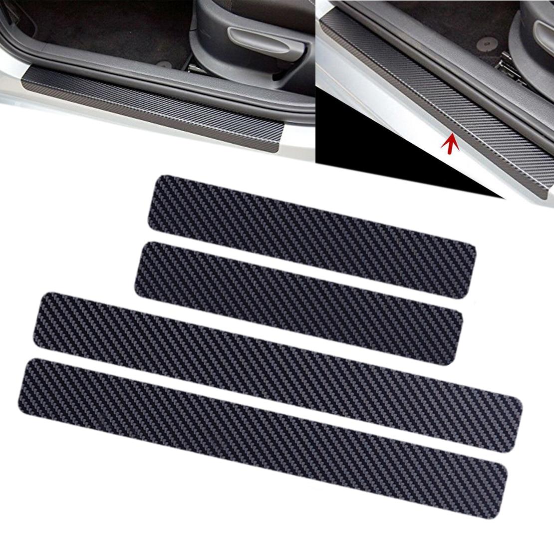 4 Piezas YYD para Audi A4L Protector de umbral de Puerta ,Carbonfiber