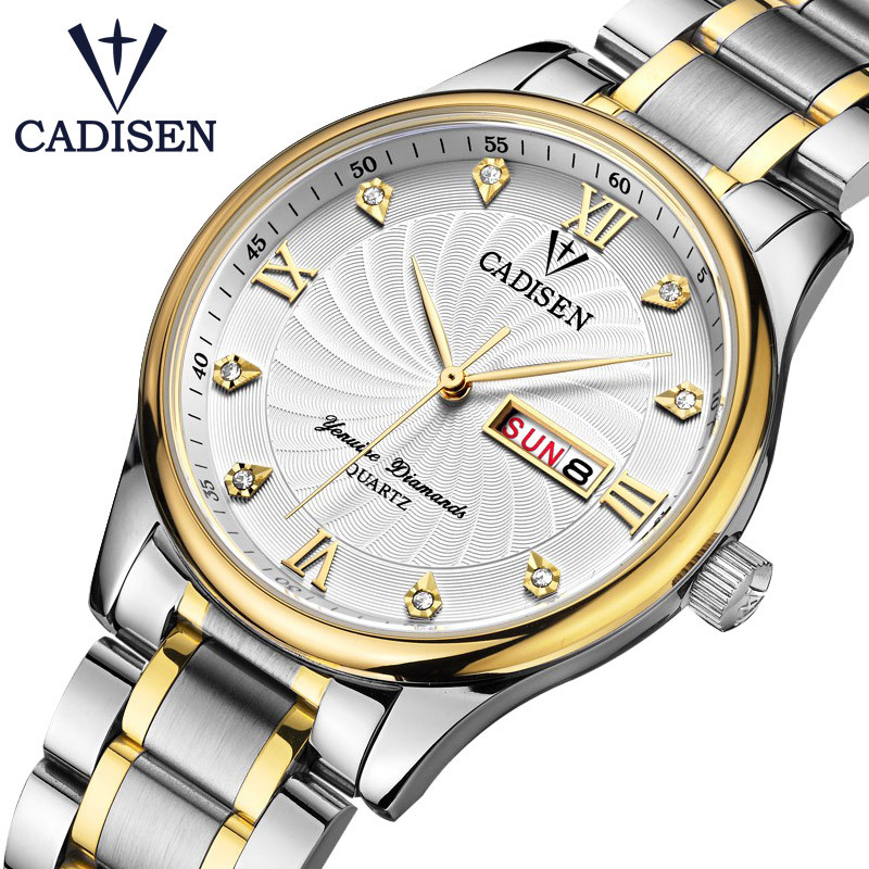 Men Watch Card Maddison Brand Top Grade Import Movement Double Calendar-Style Business Couples Quartz Watch C2012