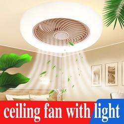 Современный потолочный вентилятор с подсветкой, потолочный вентилятор с дистанционным управлением, для столовой, спальни, 110 В/220 В, многофу...