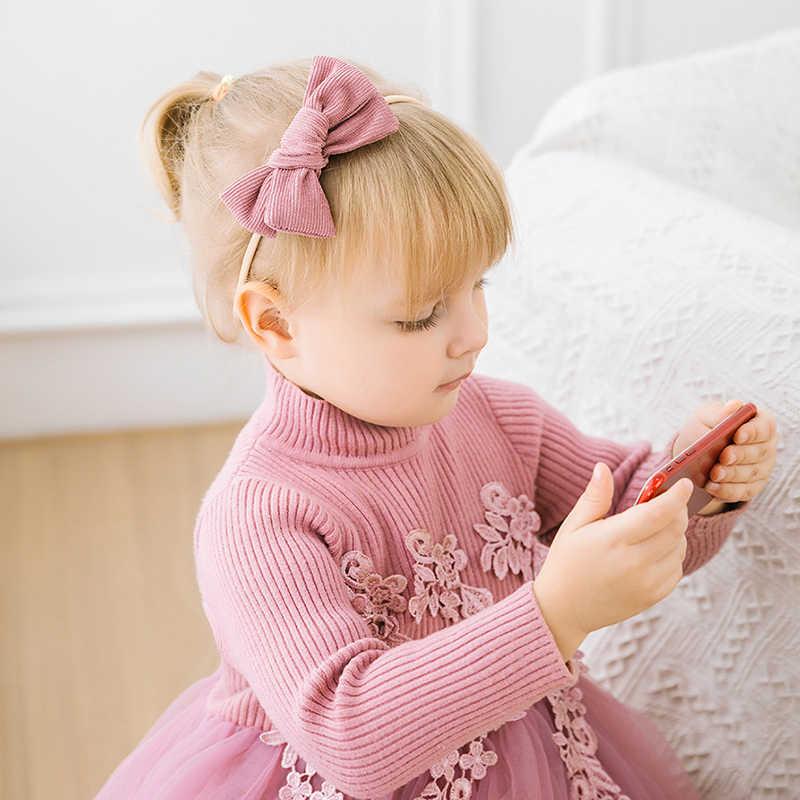 חמוד בייבי בגימור ילדי ילדה קשתות סרטי ראש יילוד תינוקות פעוט טורבן סרט שיער עבור בנות Haarband תינוק שיער אבזרים
