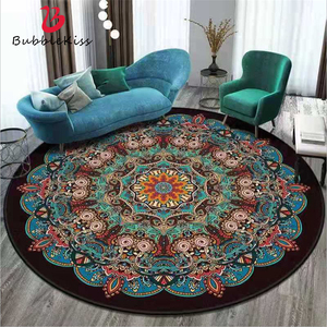 Bubble Kiss Bohemia Style Soft Round Carpets Home Polyester Bedroom Decor Carpet Classical Carpet for Living Room Hot Sale Rugs
