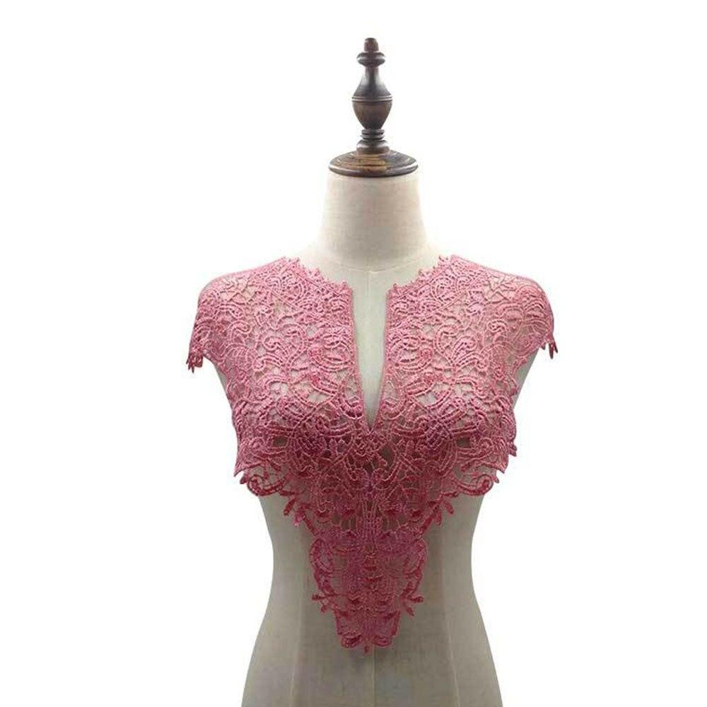 4Pcs White Fine Venise Lace Fabric 2 Style Dress Applique Blouse Sewing Supplies DIY Neckline Costume Decoration Accessories