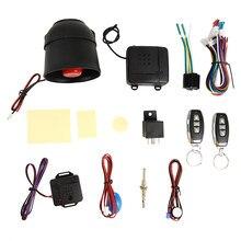Sistema de alarma de seguridad de coche, sistema de bloqueo de Control remoto Central, inmovilizador, alarma con Sensor de choque