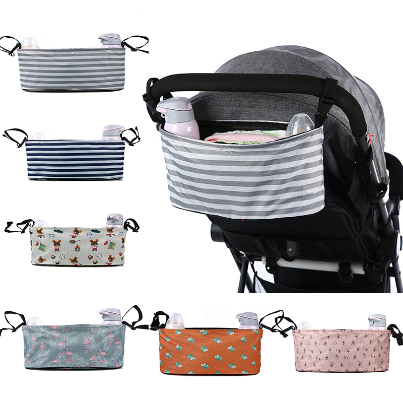 Diaper Bag Baby Stroller Organizer Bag Hanging Storage Bottle Nappy Changing Bag Buggy Cart Cup Holder Bag Stroller Accessories