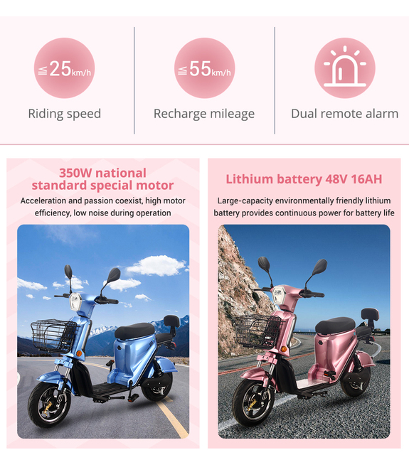 BENOD Electric Motorcycle Scooter Lithium Battery Electric Motorcycle High-Speed Electric Motocicleta Eléctrica Motor Moped 3