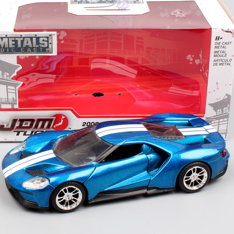 1/36 Scale mini bigtime 2017 Ford GT supercar Diecasts & Toy Vehicles muscle model auto metal racing car toy for children's gift