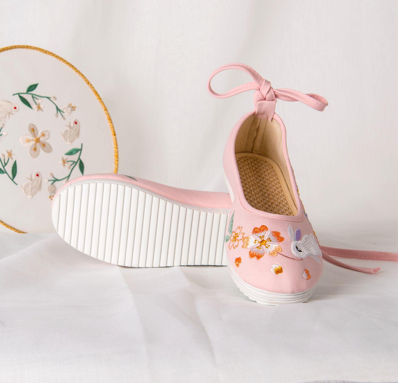 Древний стиль; Китайская одежда; Обувь для танцев; на плоской