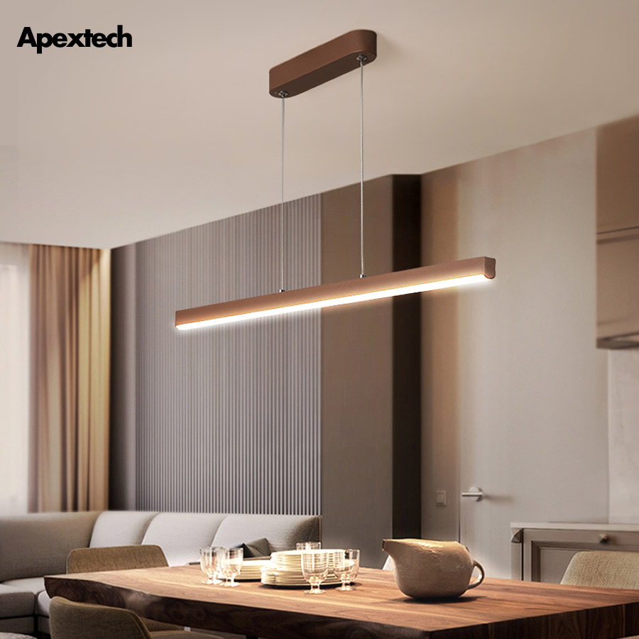 Bar-type Droplight LED Linear Pendant Lamp For Dining Room Restaurant Lighting Fixtures Ceiling Hanging Lights LED Chandelier