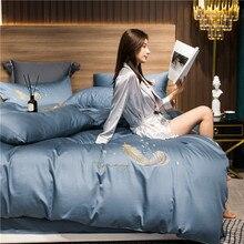 Evich Four piece bedclothes 100% cotton quilt big bed Single Duvet