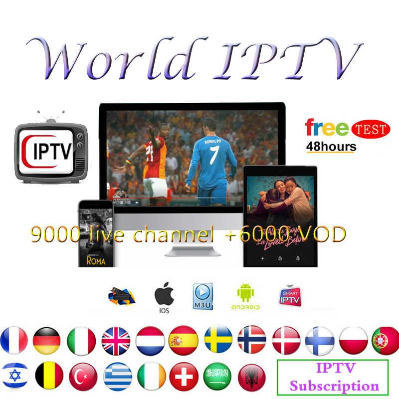 Châu Âu IPTV Thuê Bao Rocksat IPTV ltaly m3u Pháp Đức Tiếng Ả Rập Hà Lan Pháp trực tiếp năm 9000 kênh + 6000 VOD Cho Android TIVI BOX