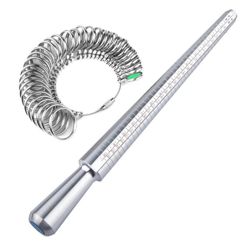 Metal Tool Engagement Sizer Ring Mandrel Ring Sizer Tool Ring Mandrel Finger Sizing Measuring Stick Measurement Test Measure Too