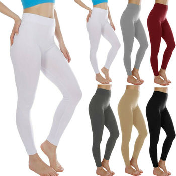 Brand New Women Yoga Pants Sport Pants High Waist Yoga Fitness Leggings Running Workout Gym Long Trousers High Waist Solid 2019 image