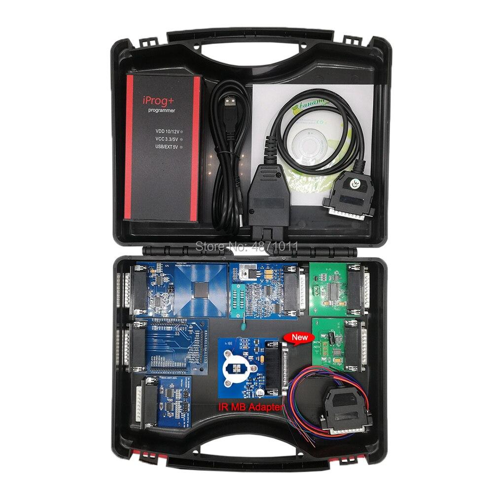 2019 V80 V77 Iprog+ Programmer Multi-function Diagnostic & Programming Tool Mileage Correction + Airbag Reset +IMMO+EEPROM