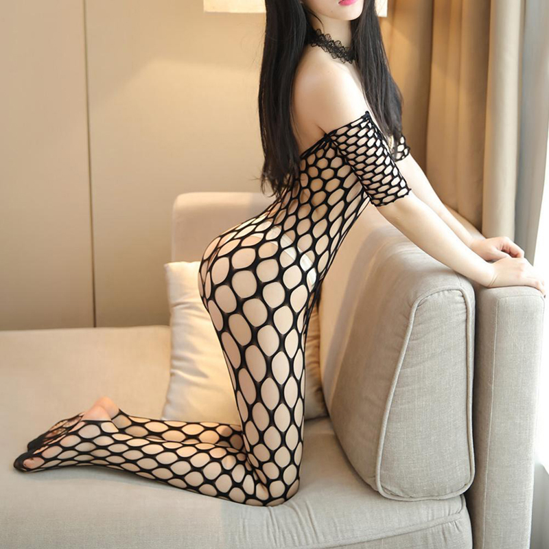 Sexy Erotic Fishnet Halter Backless Leopard Bodystocking Bodysuit Babydoll Lingerie Lenceria Porn Latex Catsuit