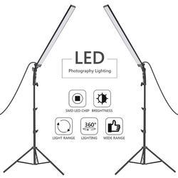 Neewer 60 LED Light Studio LED Lighting Kit - 2 Packs Light Wand Handheld LED Video Light Stick 5500K with Adjustable Brightness
